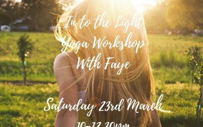 Into The Light Workshop – 23rd March 2019